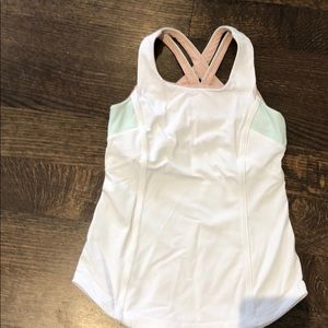 Size 8, white Ivivva tank top